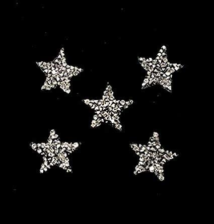 2pcs Star Shape Rhinestones Beads Patches Clothing Sew on Patch Applique