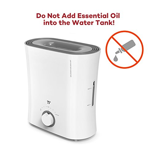 TaoTronics Evaporative Humidifier, Air Purifier, Germ-Free and Invisible Moisture with Wicking Filter, Top Fill Cool Mist Humidifiers for Bedroom, Office and Nursery -(2.5 L/0.66 gal, 110V) by TaoTronics (Image #6)
