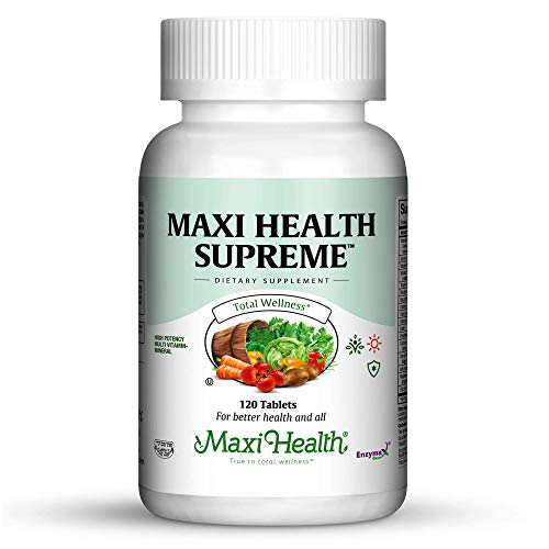 Maxi Health Supreme - High Potency Multivitamin & Mineral Supplement - 120 Tablets - Kosher