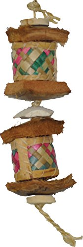 A&E CAGE COMPANY 001183 Java Wood Surprise Drum Bird Toy Assorted, Small (Drum Bird Toy)