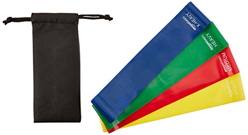 AmazonBasics 4 Piece Exercise Resistance Bands