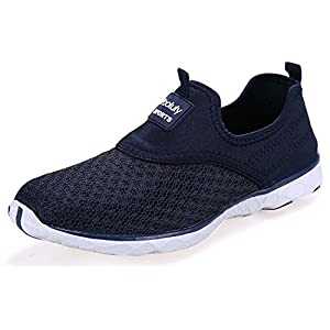 Pooluly Women's Lightweight Mesh Slip-on Water Shoes