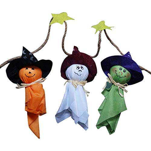 Child Halloween - Ghosts Halloween Bunting Decorations Wall Hanging Home Decor - Decor Decorative Decoration Home Party Decorations Decor Pumpkin Cloth Halloween Accessory Horror Witch Treat Ph -
