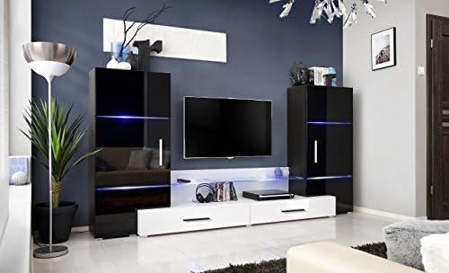 Mueble para el televisor con un diseño de torres, un módulo de ...