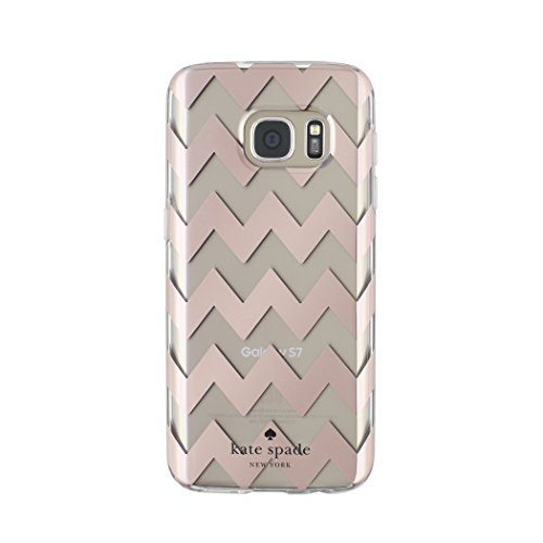 kate spade new york Samsung Galaxy S7 [Shock Absorbing] Cover fits Samsung Galaxy S7 Smartphone - Chevron Rose Gold/Cream