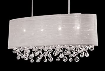 New 4 lamp chandelier oval drum shade teardrop crystal chandelier new 4 lamp chandelier oval drum shade teardrop crystal chandelier dia 36quot aloadofball Choice Image