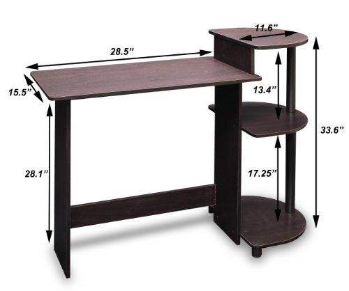Furinno 11181ex Bk Compact Computer Desk Espresso Black