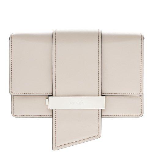 Prada Women's City Calf Metal Ribbon Handbag - City Prada