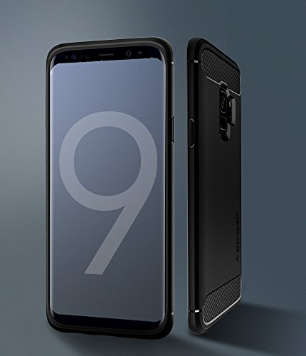 : Spigen Rugged Armor Designed for Samsung Galaxy S9 Case (2018) - Matte Black