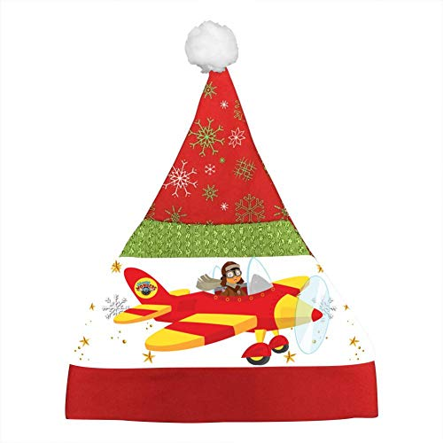 Flying Bi-Plane Cute Kids Christmas Hat Xmas Mini Santa Caps Unisex Party Hats Christmas Eve Headdress