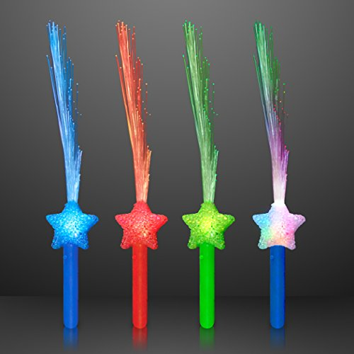 FlashingBlinkyLights Assorted Star Fiber Optic Wands (Set of 4)]()