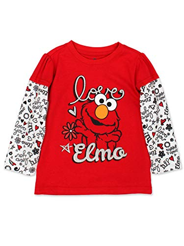 Elmo Girl Clothes - Sesame Street Elmo Girls Long Sleeve
