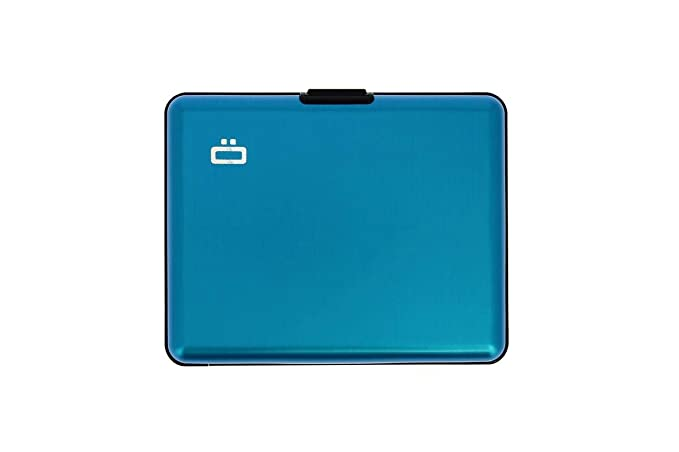 Ögon BS-Blue Tarjetero Big Stockholm Cartera de Aluminio Anodizado Azul