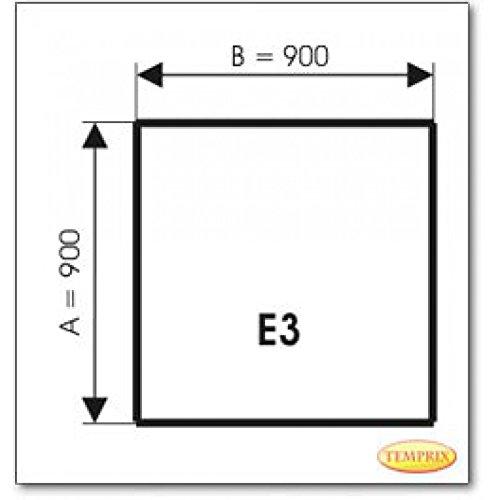 Stahl grau Kaminbodenplatte Funkenschutz Stahl grau Ofen Kaminofen Kamin E3-900 x 900 x 2 mm