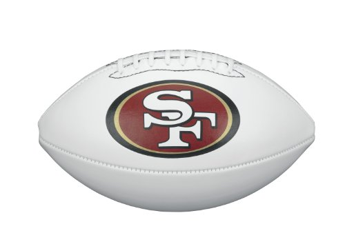 NFL Team Logo Autograph Football San Francisco 49ers
