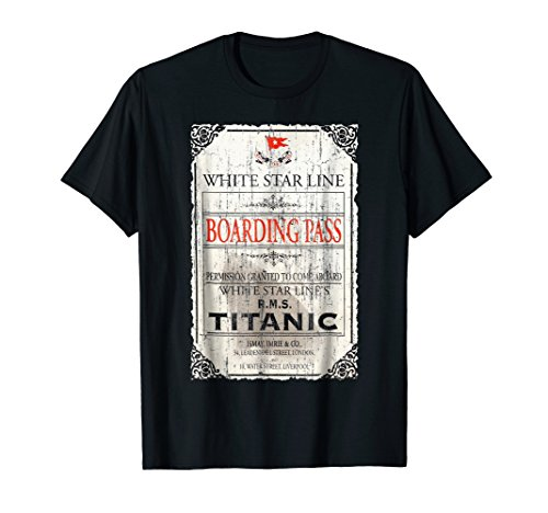RMS Titanic White Star Line Boarding Pass T-Shirt