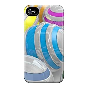 Fashionable Style Cases Covers Skin Samsung Galxy S4 I9500/I9502 - Colorful Spheres 09