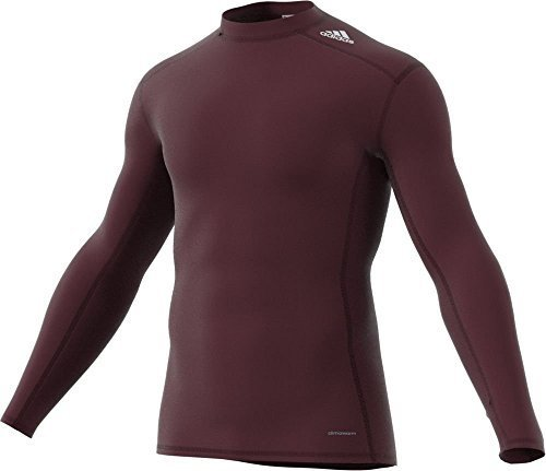 (Adidas Mens Techfit Base Warm Mock Training Shirt XL Maroon)