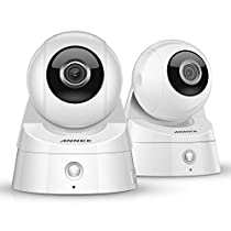 ANNKE 2 Pack 1080P (1920TVL) Wireless IP Camera, WiFi Security Camera with New PIR Technology, Zero False Motion Detect & Email Alert, Wireless Network Cloud Baby Monitor