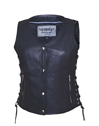 Unik International Ladies Ultra Leather Motorcycle Vest Large from Unik International