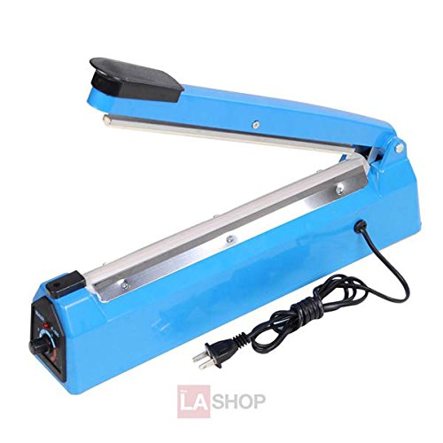 12-in Bag Sealer Handheld Heat Impulse Machine w/ Extra Teflon Sheet & Sealing Element 450w 110v Electric Power Appliance for Poly Tubing Plastic Manual Hand Press Home Kitchen Market Store Packaging by Generic (Image #3)