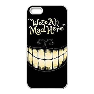 We Are All Mad Here Hot Seller Stylish High Quality Hard Case For Iphone 5S