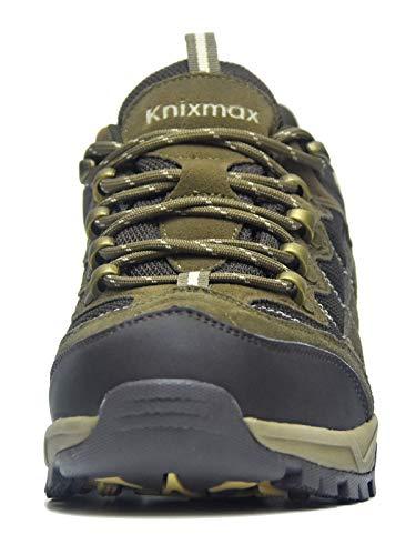 Knixmax Sneakers Uomo Escursionismo Arrampicata Sportive Trekking Marrone Impermeabili Traspiranti Scarpe All'aperto Da ar8wxrqS6t