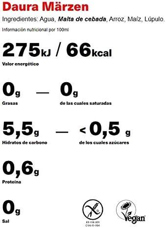 Daura Marzen Damm Cerveza Sin Gluten - Caja de 24 Botellas x ...