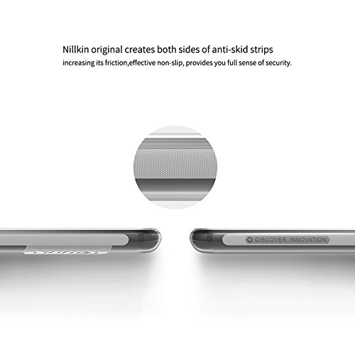 Funda OnePlus 5, NILLKIN Transparente OnePlus 5 Funda Carcasa Case Bumper [Shock-Absorción] [Anti-Arañazos] Slim Silicona Case Cover para OnePlus 5, Color Gris