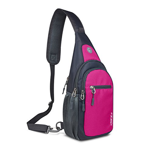 Over Body Bag (ZZSY Sling Backpack, Shoulder Chest Crossbody Bag Small Daypack for Outdoor Hiking)