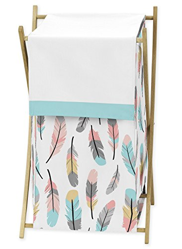 Kid Bedding Collection - Sweet Jojo Designs Baby Children Kids Clothes Laundry Hamper for Feather Collection Bedding Set