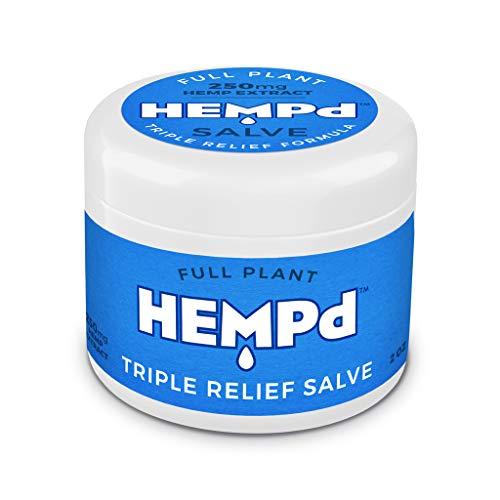 Hemp Salve - HEMPd Full Plant Hemp Extract Triple Relief Salve, 250 mg. per 2 oz. Jar