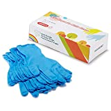 Kids Disposable Nitrile Gloves for 7-14 Years - Latex Free, Food Grade, Powder Free - for Crafting, Painting, Gardening, Cooking, Cleaning - 100 PCS Blue