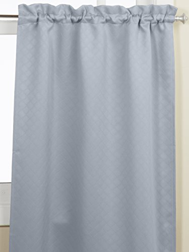 Lorraine Home Fashions Facets Room Darkening Blackout Tier Curtain Pair, 55 by 36-Inch, Blue