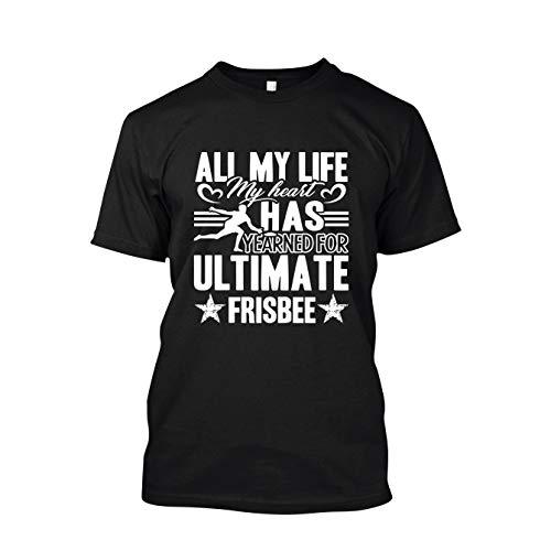 Addblue Ultimate Frisbee Limited Edition T Shirts, Adult Short Sleeve Shirts Black,2XL ()