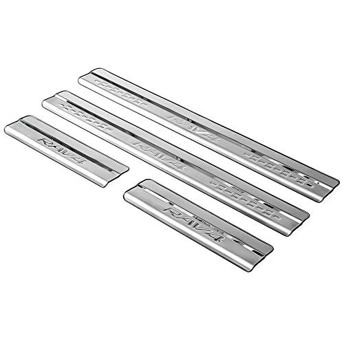 For Jeep Renegade Accessories 2016-2018 Car Accessories Steel Door Cover Door Sill Scuff Plate Door Sill Protector Cover Trim 4pcs