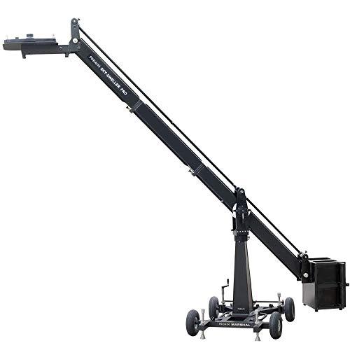 PROAIM Sky-Dweller Professional 16ft Camera Crane- Seat Platform & Euro Mount + Marshal Dolly & Column, Payload up to 200kg/440lb| For Pan Tilt Gimbal Head|For Film Movie Video -