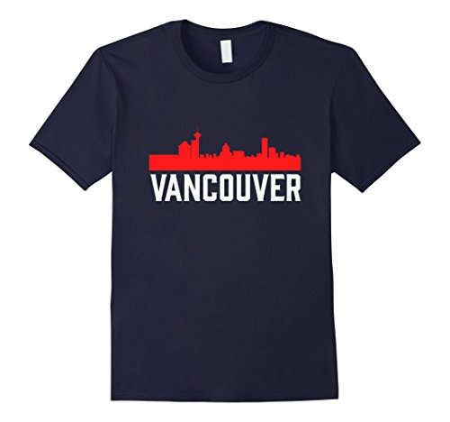 Mens Vancouver Skyline Bustling West Coast Seaport Canada T-Shirt 2XL