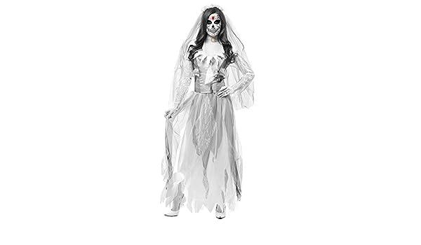 Disfraz De Novia Cadaver para Mujer Cosplay Novia Zombie Fantasma ...