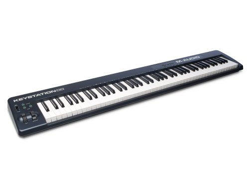 M-Audio Keystation 88 II | Ultra-Portable 88-Key USB/MIDI Keyboard Controller with Synth-Action Velocity-Sensitive Keys Including Software from SONiVOX (Eighty-Eight Ensemble) for Mac & PC