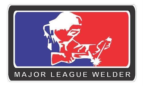 Major League Welder vinyl decals bumper stickers