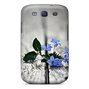 Cute High Quality Galaxy S3 Small Blue Flowers Loss Memory Case by lolosakes