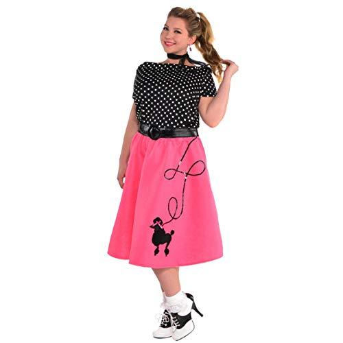 (Adult 50's Flair Poodle Skirt Costume - Plus XXL (18-20)   2)