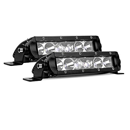 "MICTUNING MIC-5DP30 2X SR-Mini Series 8"" 30W Single Row CREE LED Light Bar Combo Spot Flood 2700lm 400m Visibility"