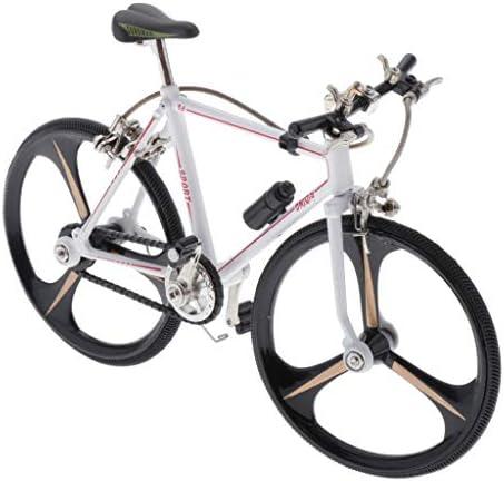 [해외]CUTICATE 110 Scale Finger Bike for Collections Mini Model Ornaments Bicycle Model Bike Gadgets (White) - Style1 / CUTICATE 110 Scale Finger Bike for Collections, Mini Model Ornaments, Bicycle Model Bike Gadgets (White) - Style1