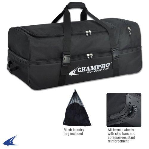 "CHAMPRO Sports Catcher/Umpire Equipment Bag - 36"" x 16"" x 14"", Black Catcher/Umpire Equipment Bag - 36"" x 16"" x 14"", 36"" L x 16"" W x 14"" H"