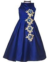 Shiroya Brothers Girls Kidswear Banglori Silk Embroidery Semi-stitched gown (New Baby SB_Kids_7794)