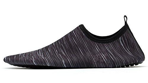Demetry Unisex Quick-Dry Wasserschuhe Leichte Aqua Socken zum Schwimmen, Wandern, Yoga, Strand, Wasserpark Schwarz