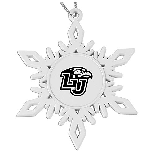 - Liberty University Snowflake Pewter Ornament White