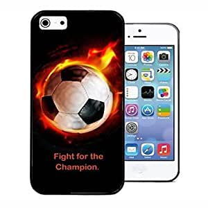ZCL Personalized Gift Football On Fire Style Back Case for iPhone 4/4S , Line 1